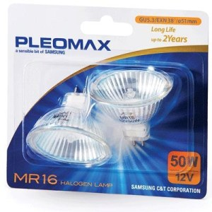 Lampada Alogena Pleomax/samsung Gu5.3 Faretto 35w Blister Da 2pz 8-801790380271