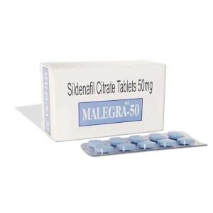 Malegra 50mg (Sildenafil Citrate)