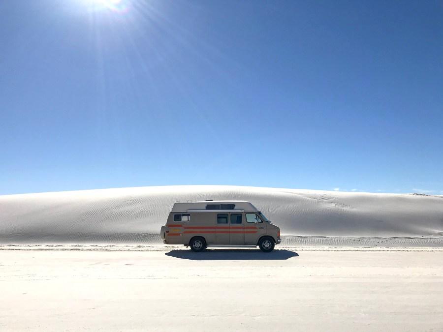 Generic Van Life - New Mexico White Sands Monument