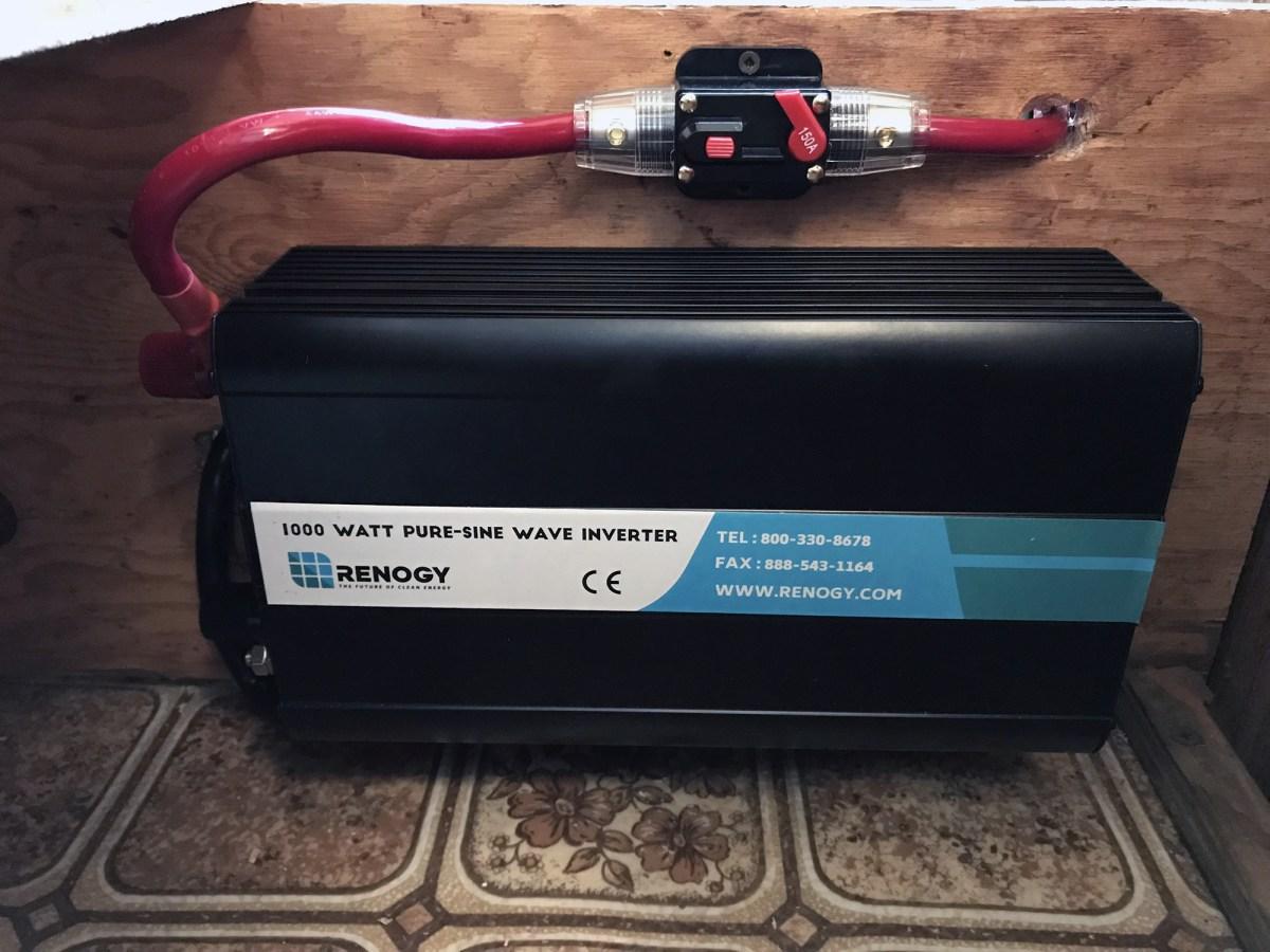 Generic Van Life - Solar Panel Setup - Inverter