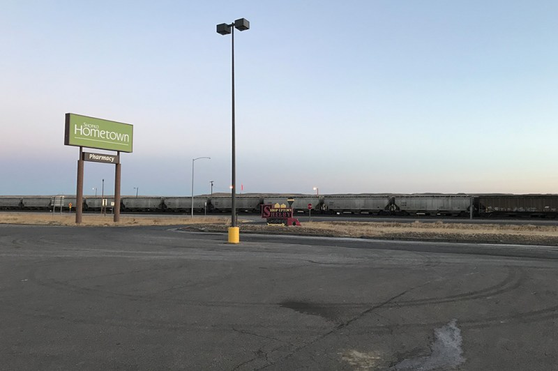 Generic Van Life - Camping Spot - Shopko - Shelby Montana United States - Parking Lot View