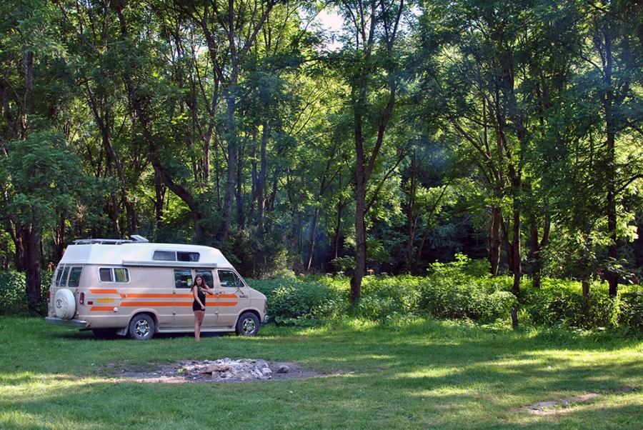 Generic-Van-Life-Camping-Spot-Gribben-Creek-Minnesota-Bug-Spray