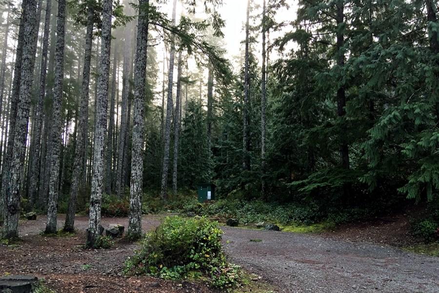 Generic-Van-Life-Camping-Spot-Big-Bay-British-Columbia-Outhouse