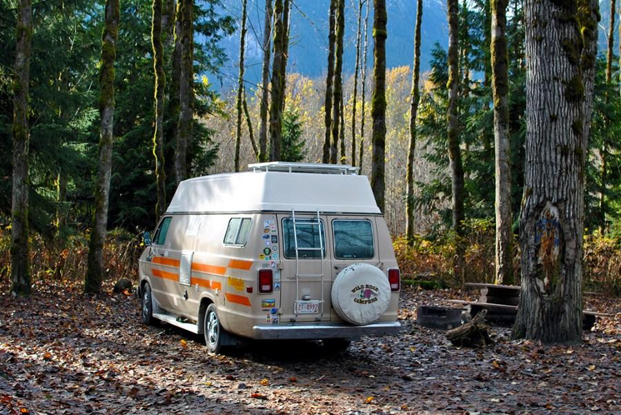 Generic-Van-Life-Camping-Spot-Squamish-Riverside-British-Columbia-Campsite-Tree