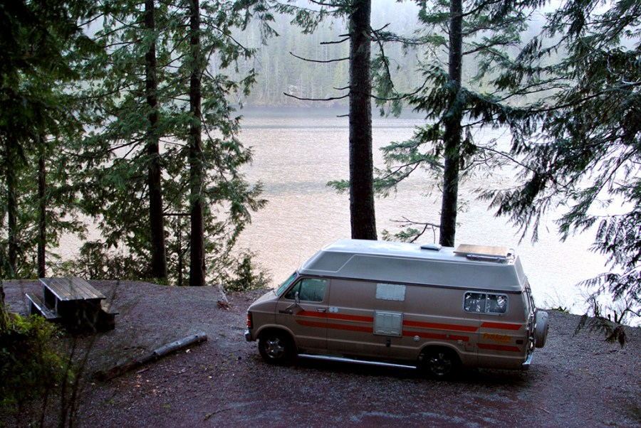 Generic-Van-Life-Camping-Spot-McCreight-Lake-British-Columbia-Campsite