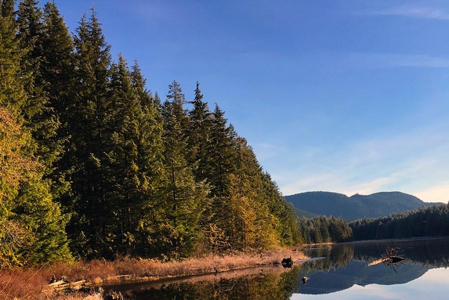Generic-Van-Life-Camping-Spot-Twin-Lake-British-Columbia-Lake
