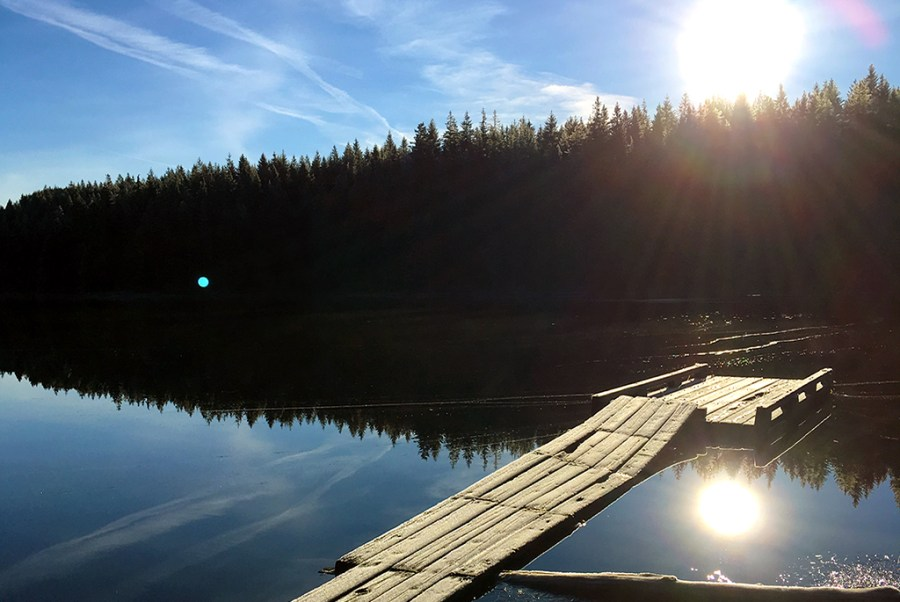 Generic-Van-Life-Camping-Spot-Twin-Lake-British-Columbia-Wharf