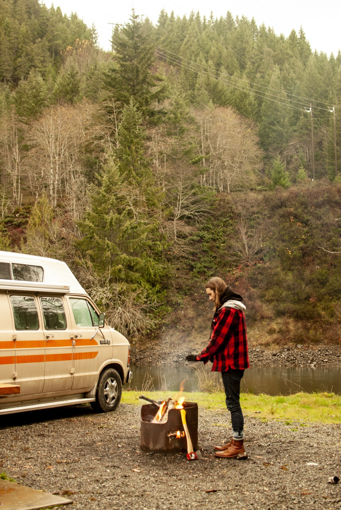 Generic Van Life - Campbell River - Fire at Strathcona Dam