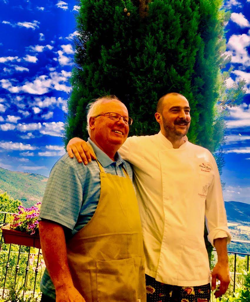 Roger and chef Cristiano