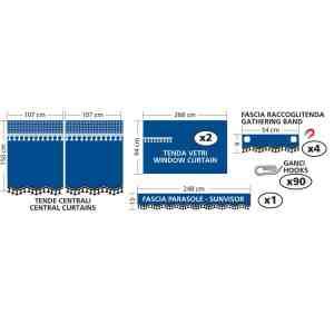 Premiere, set tende in microfibra per camion – Blu