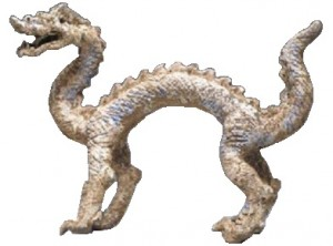 Chinese Tang Dynasty Painted Ceramic Dragon