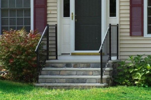 Genest Precast Granicast Steps | Installing Railing On Stone Steps
