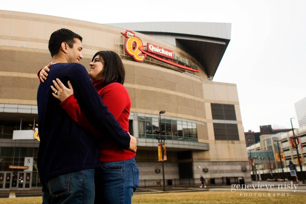 Cleveland, Copyright Genevieve Nisly Photography, Downtown Cleveland, Engagements, Ohio, Winter