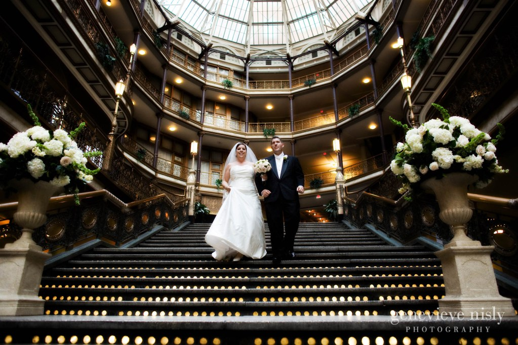 Cleveland, Copyright Genevieve Nisly Photography, Hyatt Arcade, Ohio, Summer, Wedding