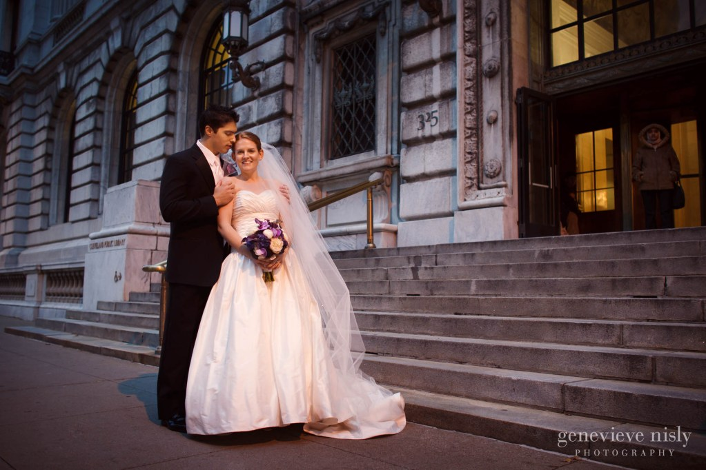 Cleveland, Cleveland Public Library, Copyright Genevieve Nisly Photography, Ohio, Wedding, Winter