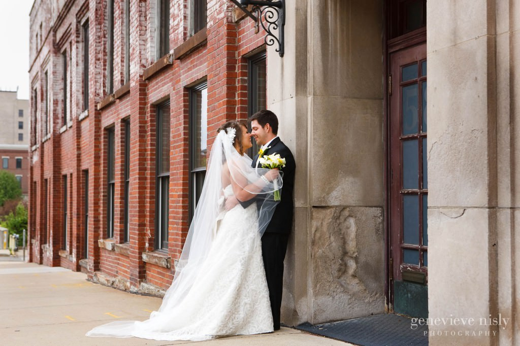 Akron, Copyright Genevieve Nisly Photography, Downtown Akron, Ohio, Spring, Wedding