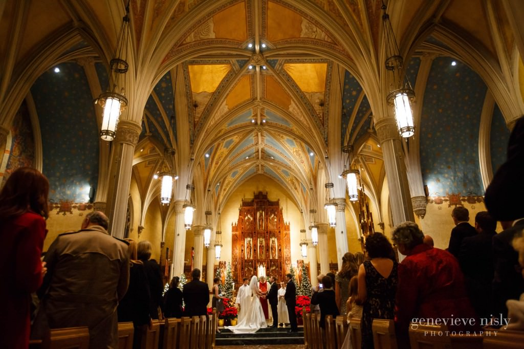 Cleveland, Copyright Genevieve Nisly Photography, Ohio, St. John's Cathedral, Wedding, Winter
