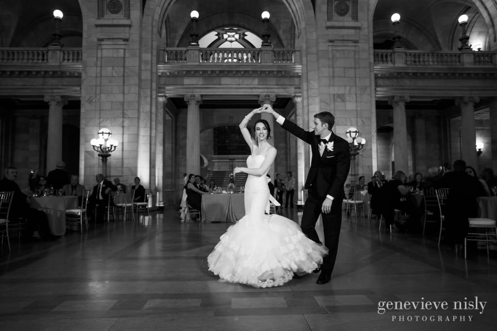 Cleveland, Copyright Genevieve Nisly Photography, Ohio, Old Courthouse, Wedding, Winter