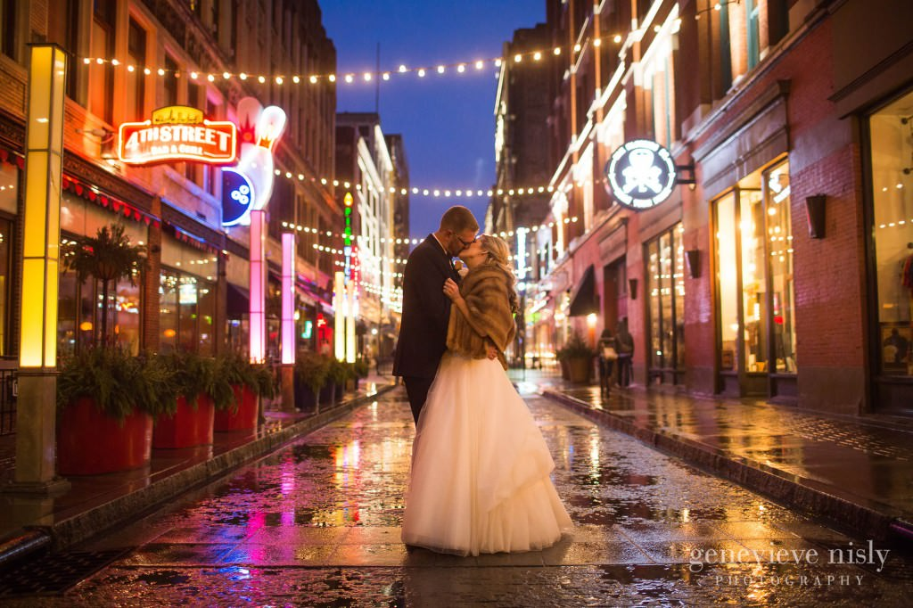 Cleveland, Copyright Genevieve Nisly Photography, East 4th St., Wedding, Winter