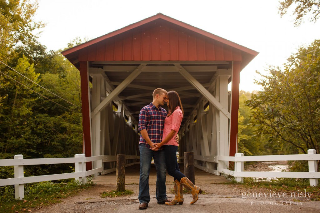Akron, Copyright Genevieve Nisly Photography, Engagements, Everett Rd Covered Bridge, Summer