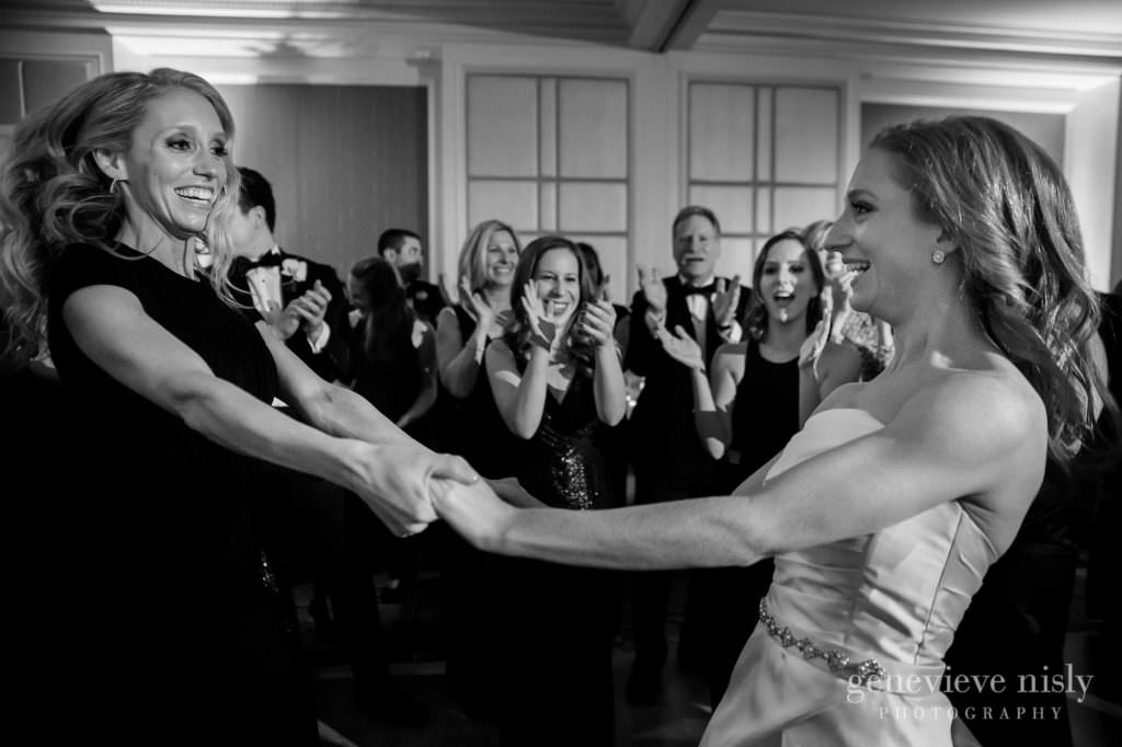 Dana dances with her sister during the reception at the Ritz Carlton.