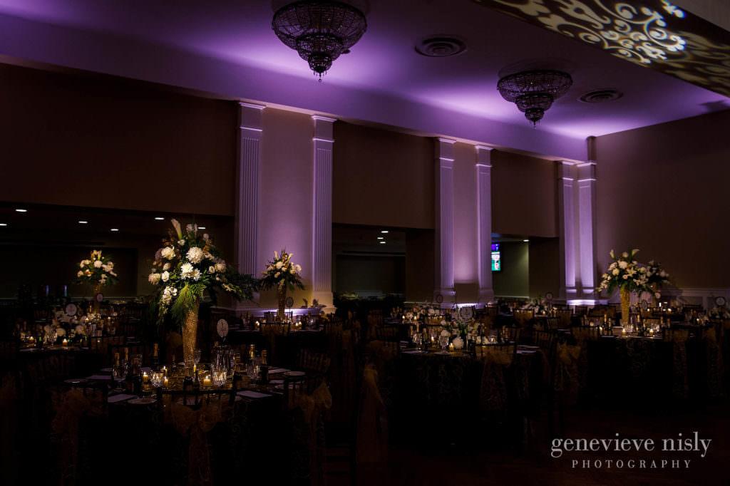 The Onesto Lofts ballroom before the wedding reception.