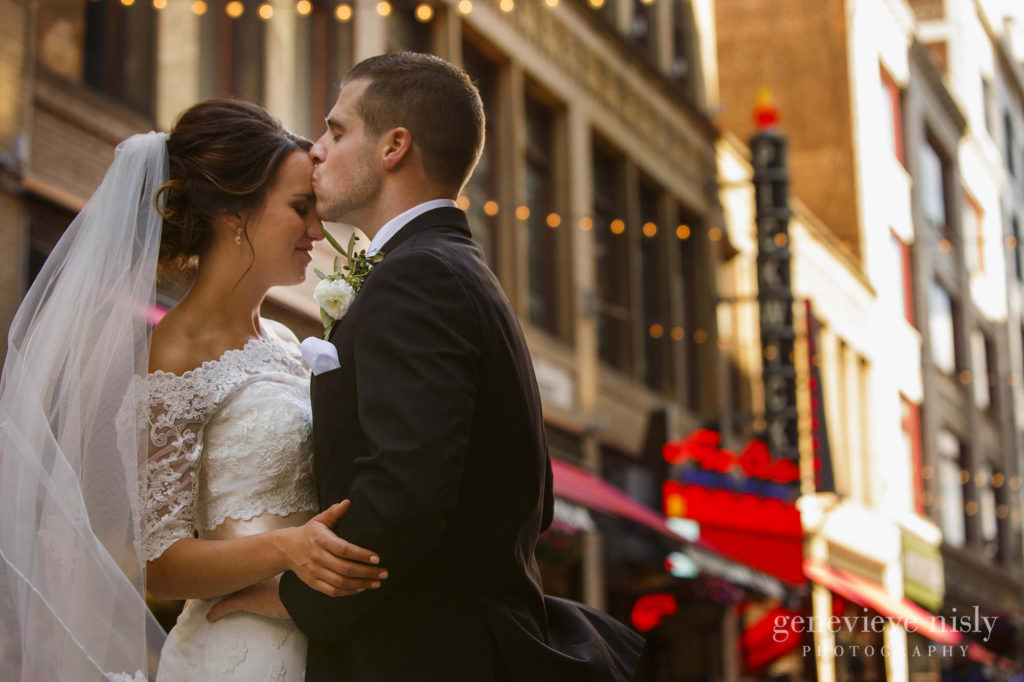Ohio, Copyright Genevieve Nisly Photography, Wedding, Summer, Cleveland, East 4th St.