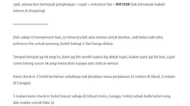 Duduk Di Villa, Private Pool, Gadis Ini Kongsikan Honeymoon Di Bali Dengan Bajet RM1000 Je! 20