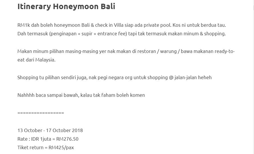 Duduk Di Villa, Private Pool, Gadis Ini Kongsikan Honeymoon Di Bali Dengan Bajet RM1000 Je! 3
