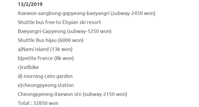 Trip Ke Seoul Dan Jeju Selama 8 Hari Dengan Kos RM1500 Termasuk Flight. Berbaloi Sangat! 7