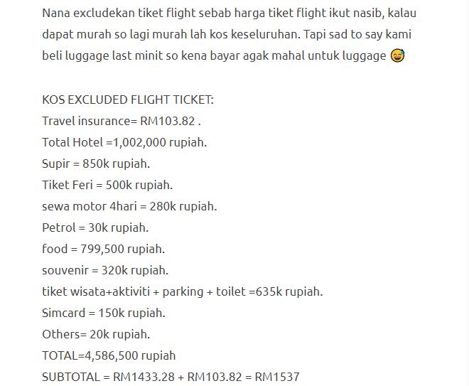 Hanya Berbelanja RM1537 Di Bali & Nusa Penida Untuk 3 Orang. Berbaloi Baloi! 3