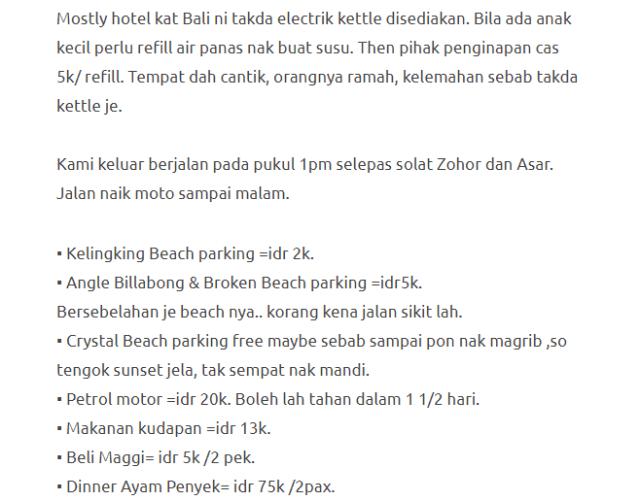 Hanya Berbelanja RM1537 Di Bali & Nusa Penida Untuk 3 Orang. Berbaloi Baloi! 9