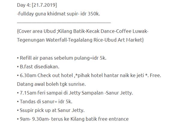 Hanya Berbelanja RM1537 Di Bali & Nusa Penida Untuk 3 Orang. Berbaloi Baloi! 16