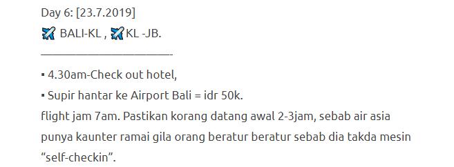 Hanya Berbelanja RM1537 Di Bali & Nusa Penida Untuk 3 Orang. Berbaloi Baloi! 28