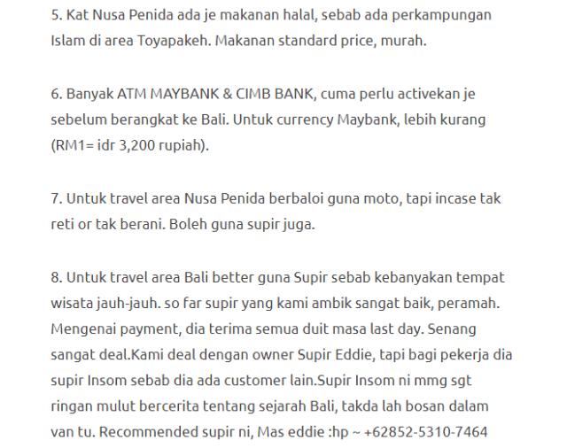 Hanya Berbelanja RM1537 Di Bali & Nusa Penida Untuk 3 Orang. Berbaloi Baloi! 29