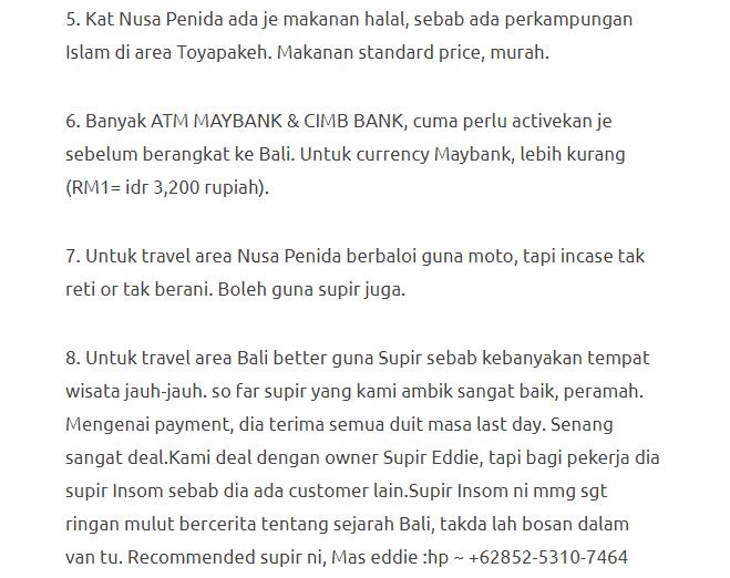 Hanya Berbelanja RM1537 Di Bali & Nusa Penida Untuk 3 Orang. Berbaloi Baloi! 30