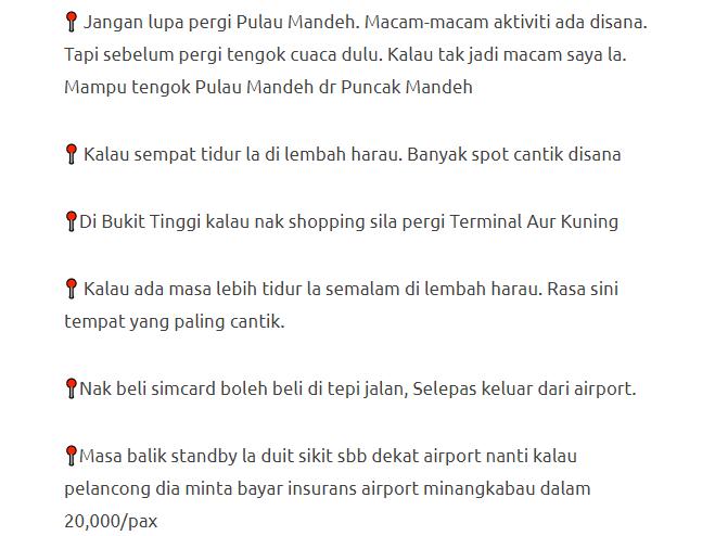 Lelaki Ini Bercuti Ke Lokasi Menarik Di Padang, Indonesia Dengan Modal Hanya RM600 Je! 19