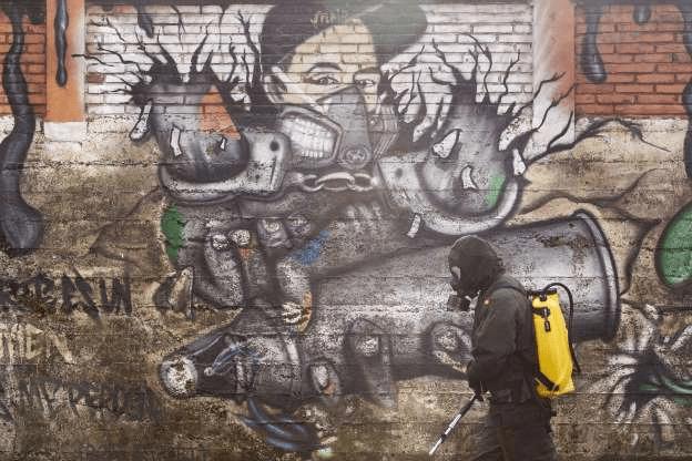 [Foto] Hebah Kesedaran Bahayanya COVID-19 Melalui Graffiti 8