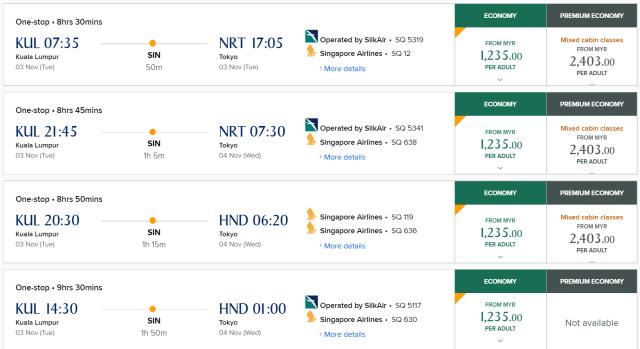 Singapore Airlines Tawar Tiket Serendah RM1,235 dari KL Ke Jepun 1