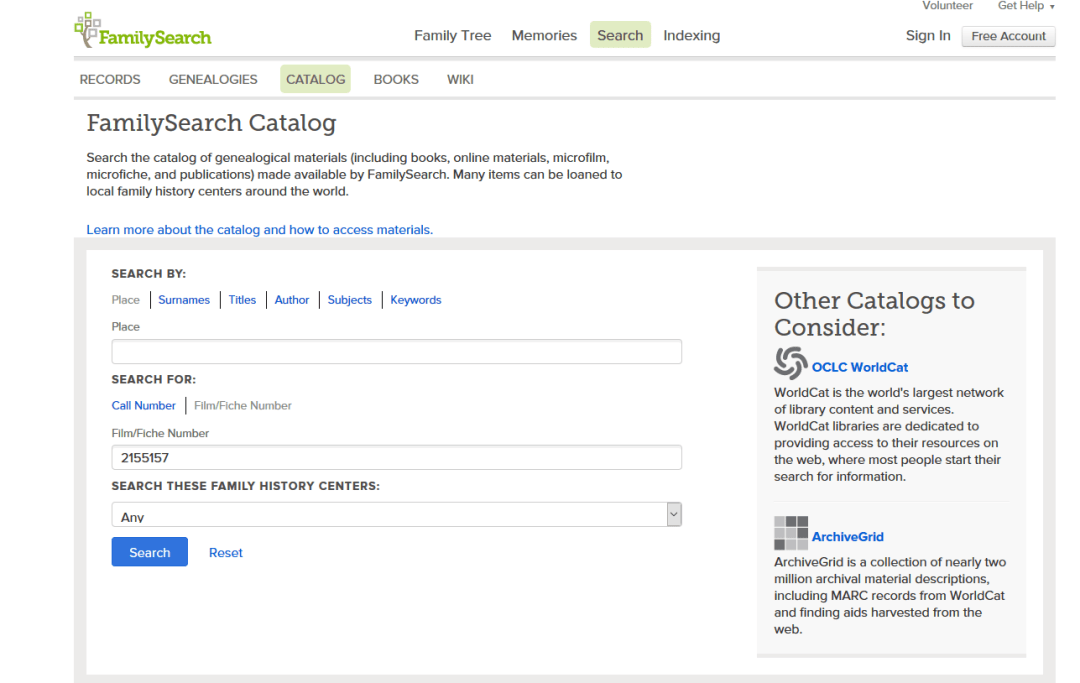 3 Search the Catalog Screenshot