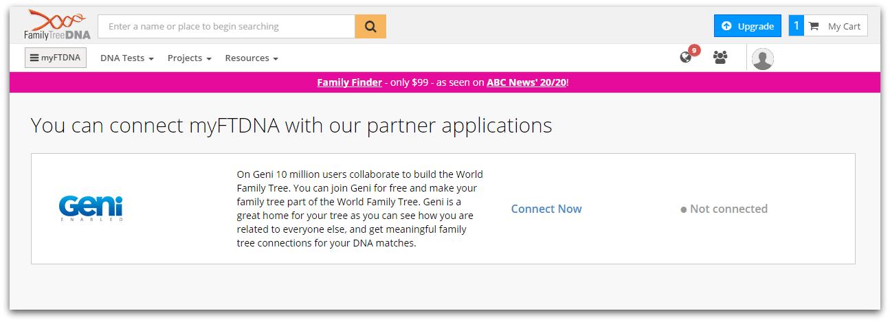 Geni tree matches