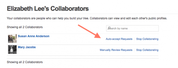 Geni Tips: Send Collaboration Requests