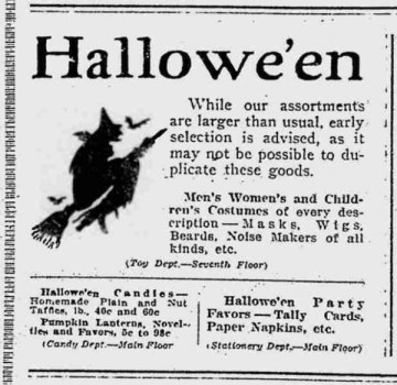 Halloween 100 Years Ago