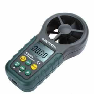 Anemometre-MASTECH MS6252A Portable Anemometre Numerique Grand Ecran de poche LCD electronique Vitesse du vent Volume d'air Compteur de Mesure avec Retro-eclairage pour l'industrie, maison, et utilisation en exterieur