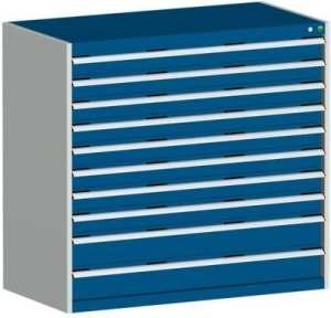 bott Armoire à tiroirs JUMBO – hauteur 1200 mm, 10 tiroirs charge max. par tiroir 200 kg, bleu – armoire armoire d'atelier armoire à outils armoire à tiroirs armoires armoires d'atelier armoires à outils armoires à tiroirs Armoire d'atelier Armoire à