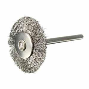 CAMTOA Brosse Métallique, brosses pour Perceuse en acier inoxydable brosse ronde Ø25mm Pour Rotatif Outil
