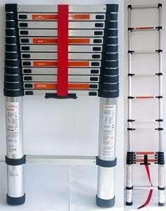 Dp Design Escabeau télescopique professionnel en Aluminium 3,8 m