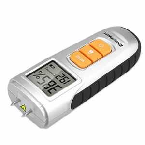EXCELVAN AOK-6036 Humidimètre Numérique 2-Pin Senseur Pour Les Plâtre, Le béton, Les chapes, Le bois, Testeur d'Humidité