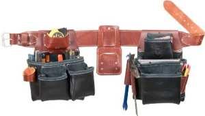 Occidental Leather B5080DBLH XXXL Ceinture porte-outils à 2 sacs pour gaucher Noir TailleXXXL