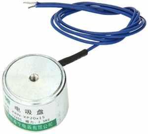 sourcingmap® Électro-aimant solénoïde disque de succion DC 12V 20x15mm 2.5kg